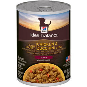 Hill's Ideal Balance Regular Canned Adult Slow Cooked Chicken & Zucchini Stew