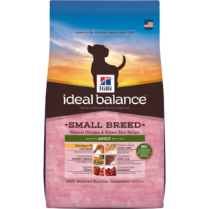 Hill's Ideal Balance Small Breed Adult Natural Chicken & Brown Rice Recipe