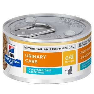 Hill's Prescription Diet Urinary Care c/d Multicare Vegetable, Tuna & Rice Stew