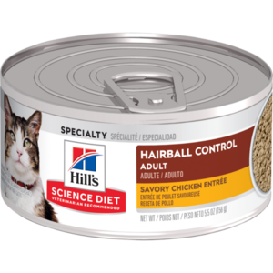 Hill's Science Diet Adult Hairball Control Savory Chicken Entree