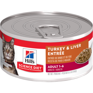 Hill's Science Diet Adult Turkey and Liver Entree