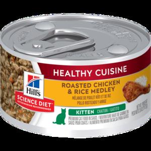 Hill's Science Diet Healthy Cuisine Kitten Roasted Chicken & Rice Medley