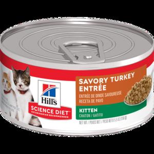 Hill's Science Diet Kitten Savory Turkey Entree