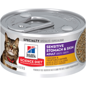 Hill's Science Diet Sensitive Stomach & Skin Adult Chicken & Vegetable Entree