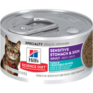 Hill's Science Diet Sensitive Stomach & Skin Adult Tuna & Vegetable Entree