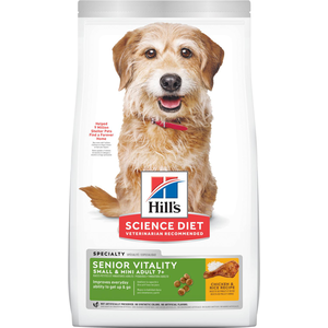 Hill's Science Diet Youthful Vitality Adult 7+ Chicken & Rice Recipe For Small & Toy Breed Dogs
