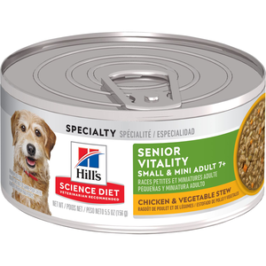 Hill's Science Diet Youthful Vitality Adult 7+ Chicken & Vegetable Stew For Small & Toy Breed Dogs
