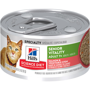 Hill's Science Diet Youthful Vitality Adult 7+ Salmon & Vegetable Stew