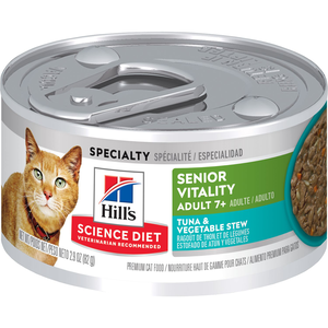 Hill's Science Diet Youthful Vitality Adult 7+ Tuna & Vegetables Stew