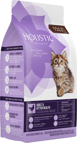 Holistic Select Grain Free Adult & Kitten Health Chicken Meal Recipe