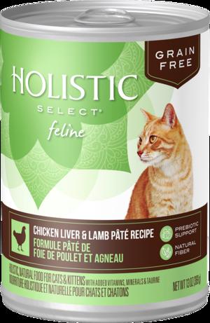 Holistic Select Grain Free Canned Chicken Liver & Lamb Pate Recipe