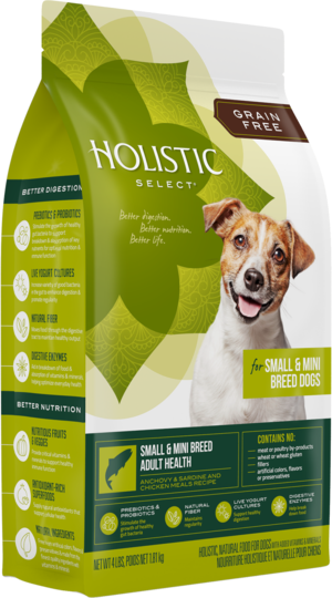 Holistic Select Grain Free Small & Mini Breed Adult Health Anchovy & Sardine and Chicken Meals Recipe