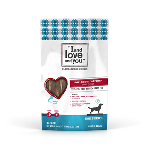 I and Love and You Dog Chews Cow-Boom! Strips