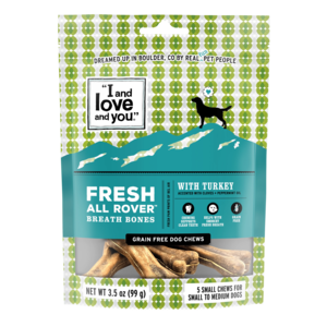I and Love and You Dog Chews Fresh All Rover Breath Bones
