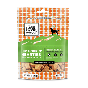 I and Love and You Dog Treats Hip Hoppin' Hearties With Chicken