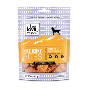 I and Love and You Dog Treats Nice Jerky Bites (Chicken + Duck Recipe)