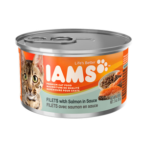 Iams Canned Cat Food Filets With Salmon In Sauce