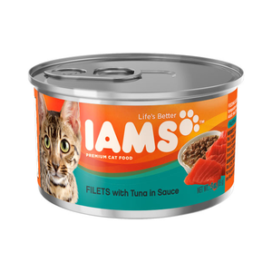 Iams Canned Cat Food Filets With Tuna In Sauce