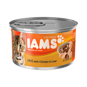 Iams Canned Cat Food Pate With Chicken & Liver
