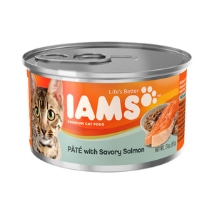 Iams Canned Cat Food Pate With Savory Salmon