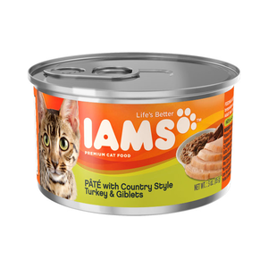 Iams Canned Cat Food Pate With Country Style Turkey & Giblets