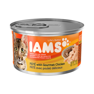 Iams Canned Cat Food Pate With Gourmet Chicken