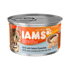 Iams Canned Cat Food Pate With Select Oceanfish