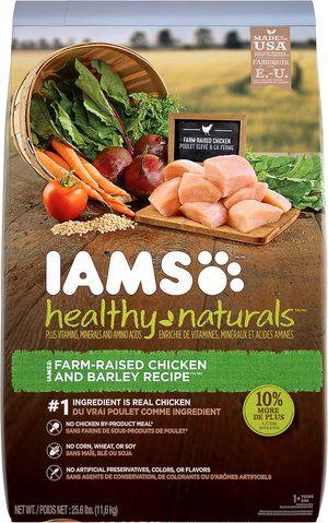 Iams Healthy Naturals Farm-Raised Chicken and Barley Recipe