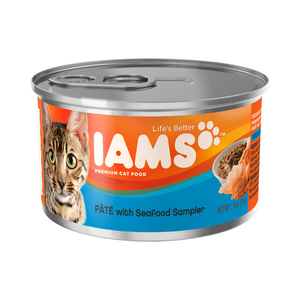 Iams Canned Cat Food Pate With Seafood Sampler
