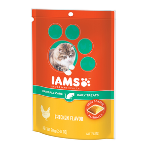 Iams Proactive Health Hairball Care Daily Treats Chicken Flavor