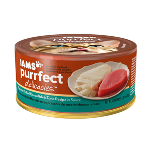 Iams Purrfect Delicacies Featured Flaked Oceanfish & Tuna Recipe In Sauce