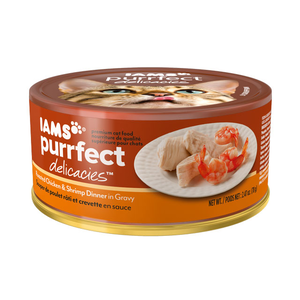 Iams Purrfect Delicacies Roasted Chicken & Shrimp Dinner In Gravy