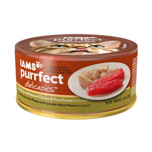 Iams Purrfect Delicacies Select Cuts With Roasted Chicken & Tuna Entree In Gravy