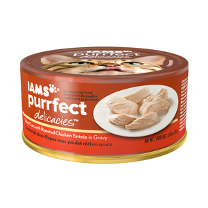 Iams Purrfect Delicacies Select Cuts With Roasted Chicken Entree In Gravy