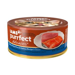 Iams Purrfect Delicacies Signature Flaked Tuna & Salmon Recipe In Sauce