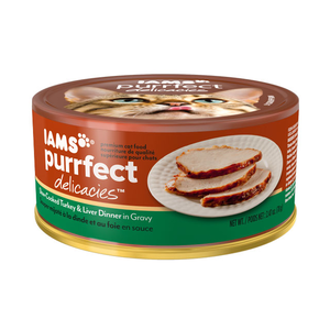 Iams Purrfect Delicacies Slow-Cooked Turkey & Liver Dinner In Gravy
