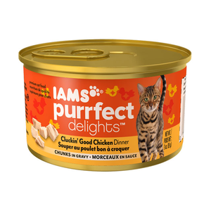 Iams Purrfect Delights Cluckin' Good Chicken Dinner Chunks In Gravy