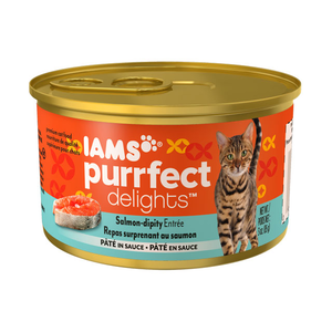 Iams Purrfect Delights Salmon-Dipity Entree Pate In Sauce