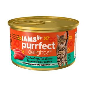Iams Purrfect Delights Sea You Soon, Tuna Dinner Chunks In Gravy