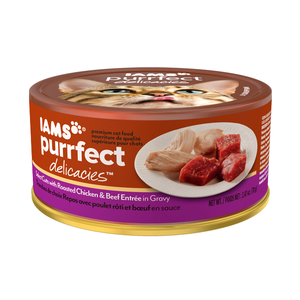 Iams Purrfect Delights Select Cuts With Roasted Chicken & Beef Entree In Gravy