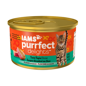 Iams Purrfect Delights Tuna-Topia Dinner Flaked In Sauce