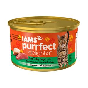 Iams Purrfect Delights Tuna-Turkey Tango Entree Pate In Gravy