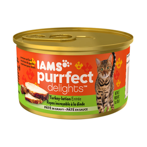 Iams Purrfect Delights Turkey-Lation Entree Pate In Gravy