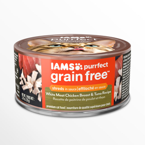 Iams Purrfect Grain Free White Meat Chicken Breast & Tuna Recipe Shreds In Sauce