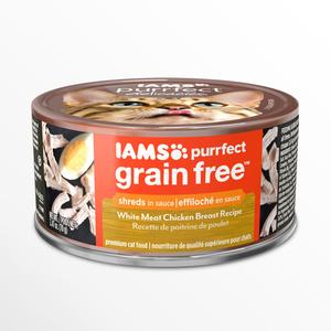Iams Purrfect Grain Free White Meat Chicken Breast Recipe Shreds In Sauce