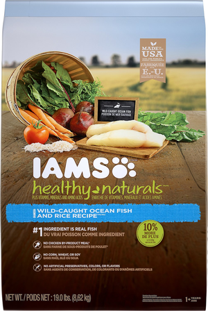 Iams Healthy Naturals Wild-Caught Ocean Fish and Rice Recipe