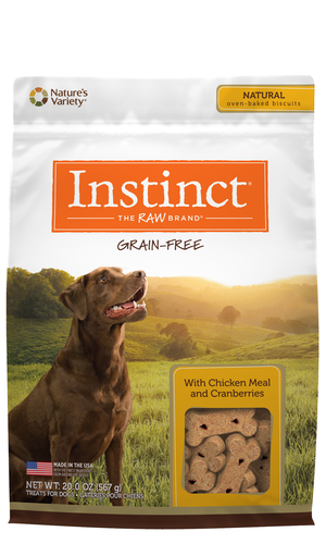 Instinct Grain-Free Biscuits Chicken Meal and Cranberries