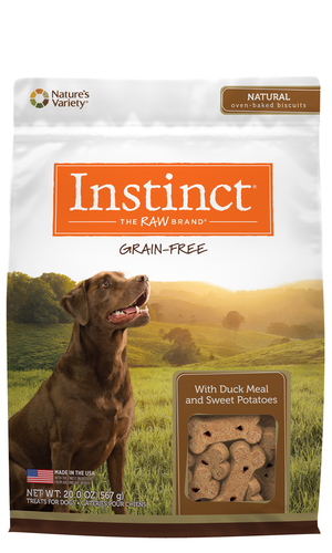 Instinct Grain-Free Biscuits Duck Meal and Sweet Potatoes