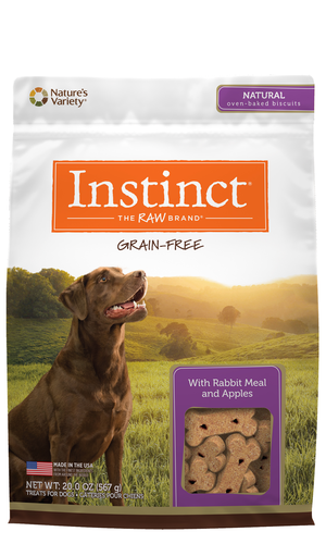 Instinct Grain-Free Biscuits Rabbit Meal and Apples