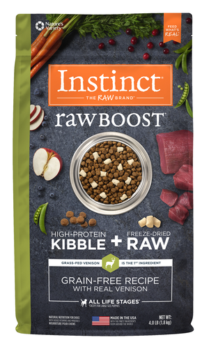 Instinct Raw Boost Grain-Free Recipe With Real Venison